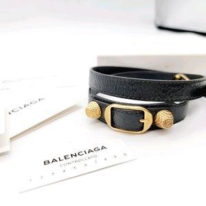 Balenciaga leather wrap bracelet